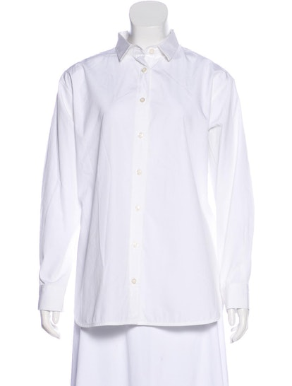 Long Sleeve Button-Up Top