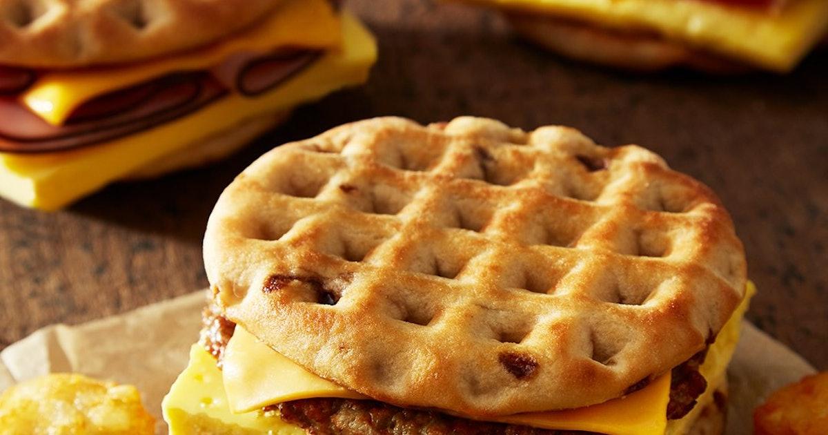 Burger King's Maple Waffle Breakfast Sandwiches Just Hit The Breakfast Menu