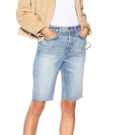Beverley High-Rise Denim Shorts