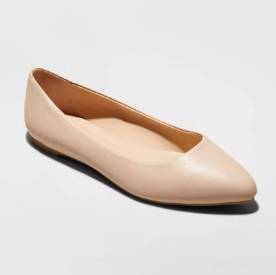A New Day Women's Kora Microsuede Pointed Toe Ballet Flats