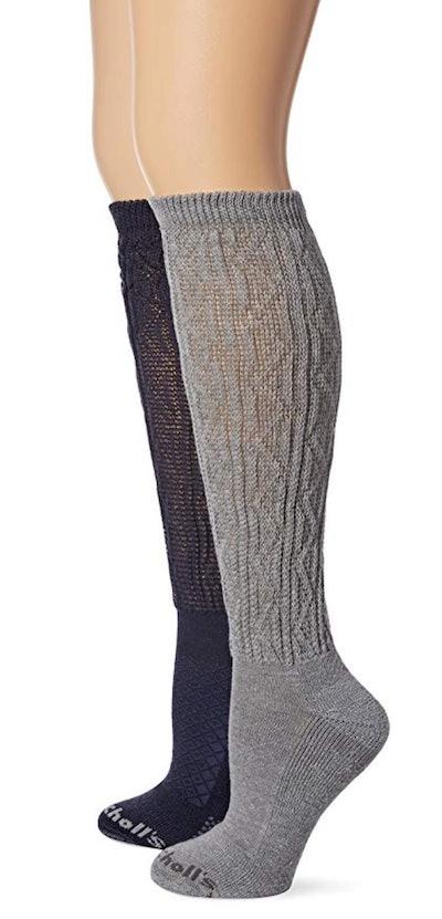 Dr. Scholl's Women's Circulatory Texture Socks (2-Pack)