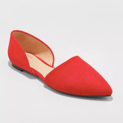 A New Day Women's Rebecca Microsuede Pointed Two Piece Ballet Flats