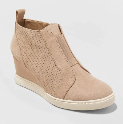 A New Day Women's Kolie Microsuede Wedge Sneakers