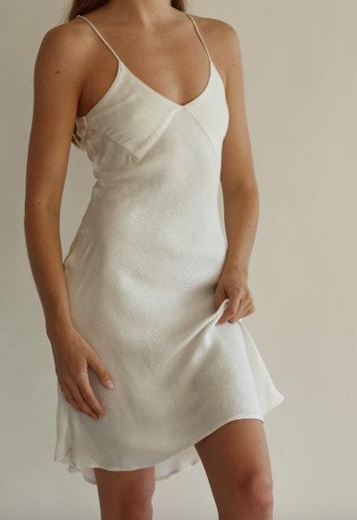 Chantel Slip Dress - Leopard Shimmer