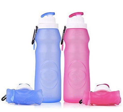 Baiji Bottle Collapsible Silicone Water Bottles (Set of 2)