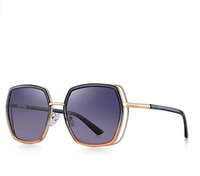 OLIEYE Oversized Square Polarized Sunglasses