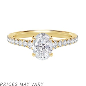 Icon™ Setting Oval Engagement Ring with Diamond Band