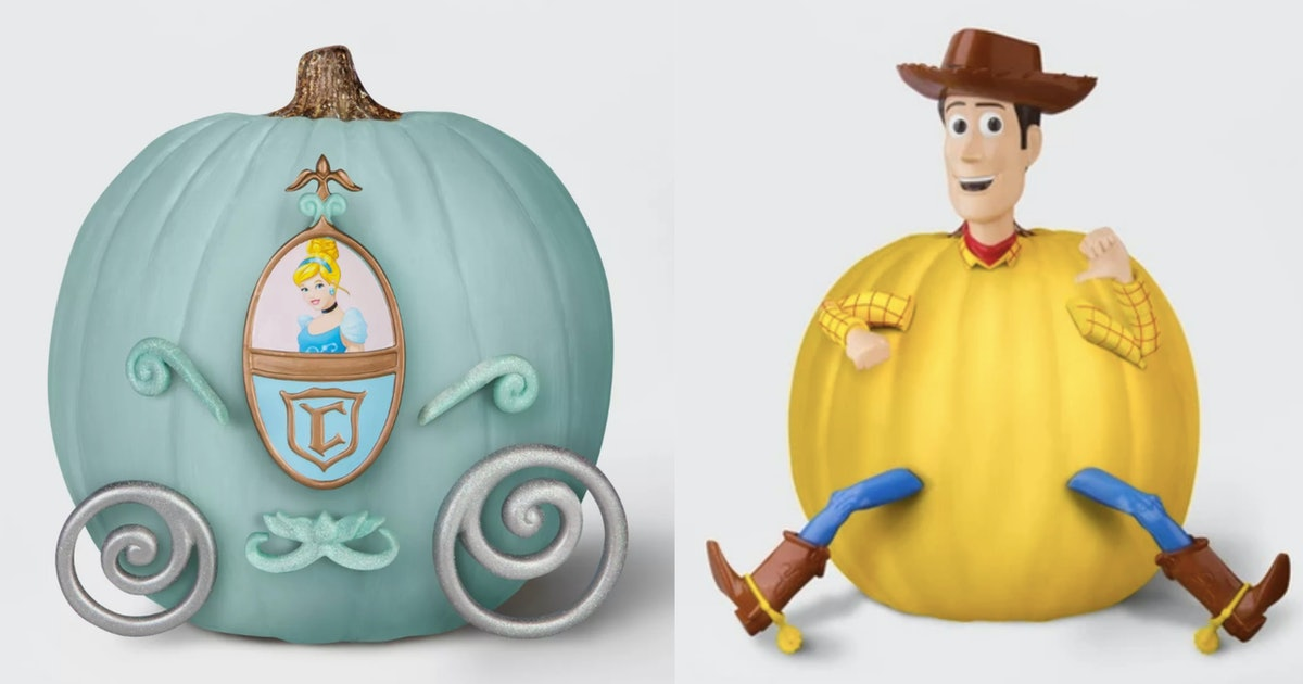 Disney No-Carve Pumpkin Sets At Target Are So Cute You'll Want Them All