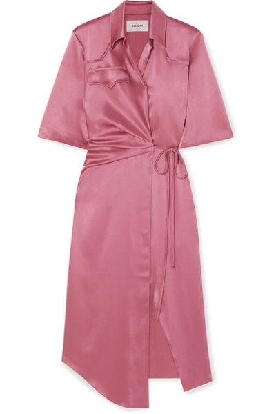 Lais Satin Wrap Dress