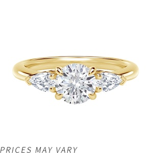 Accents™ Engagement Ring with Pear Sides
