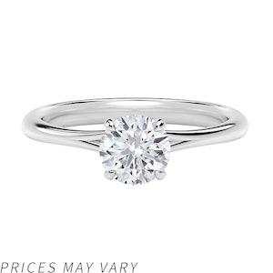 Icon Setting Round Engagement Ring