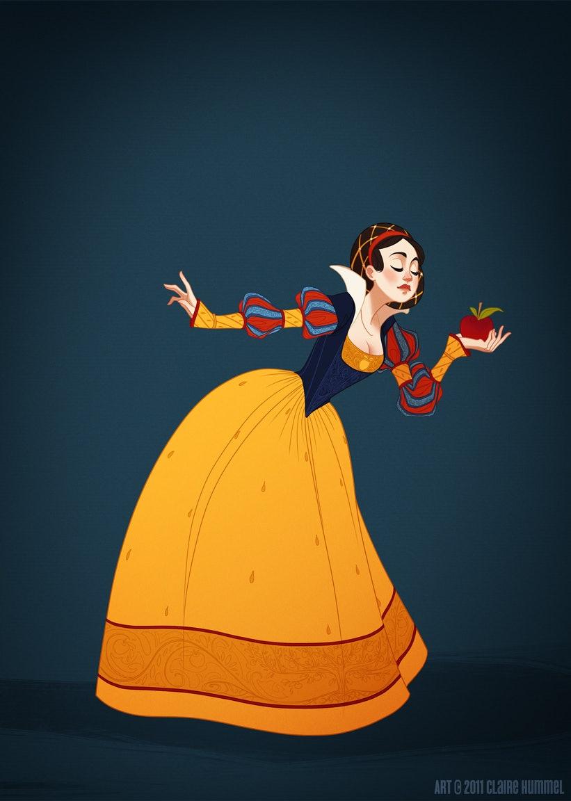 drawing disney princesses dresses