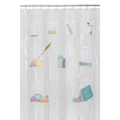 Maytex Quick Dry Mesh Pockets Shower Liner Curtain