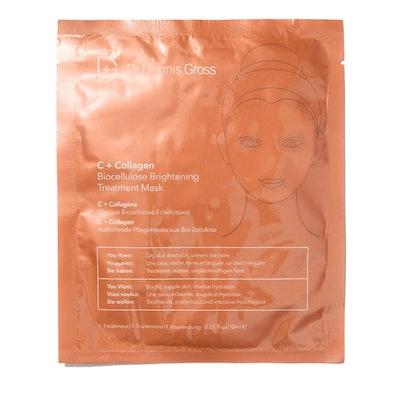 Dr Dennis Gross C+Collagen BioCellulose Brightening Treatment Mask