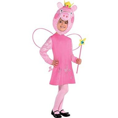 Suit Yourself Peppa Pig Halloween Costume for Girls, Includes Dress, Hood, Wings, and Wand