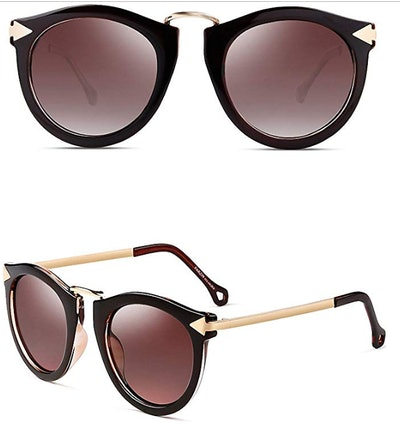 ATTCL Vintage Round Arrow-Style Polarized Sunglasses