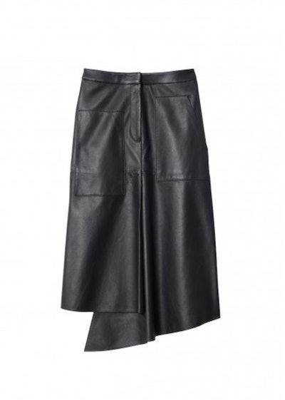 High Waisted Knee Length Skirt