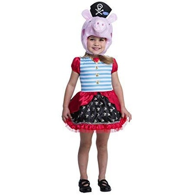 Peppa Pig Pirate Costume, 3-4T