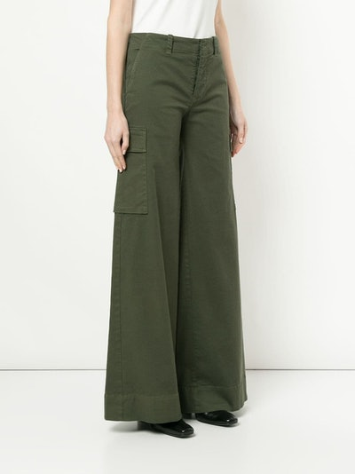 Flared Cargo Trousers