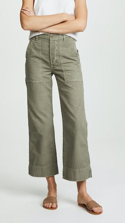 Army Wide Leg Pants