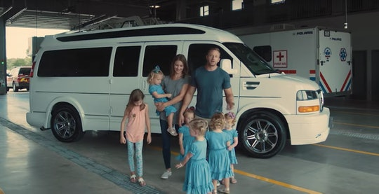 The Busby family's white van
