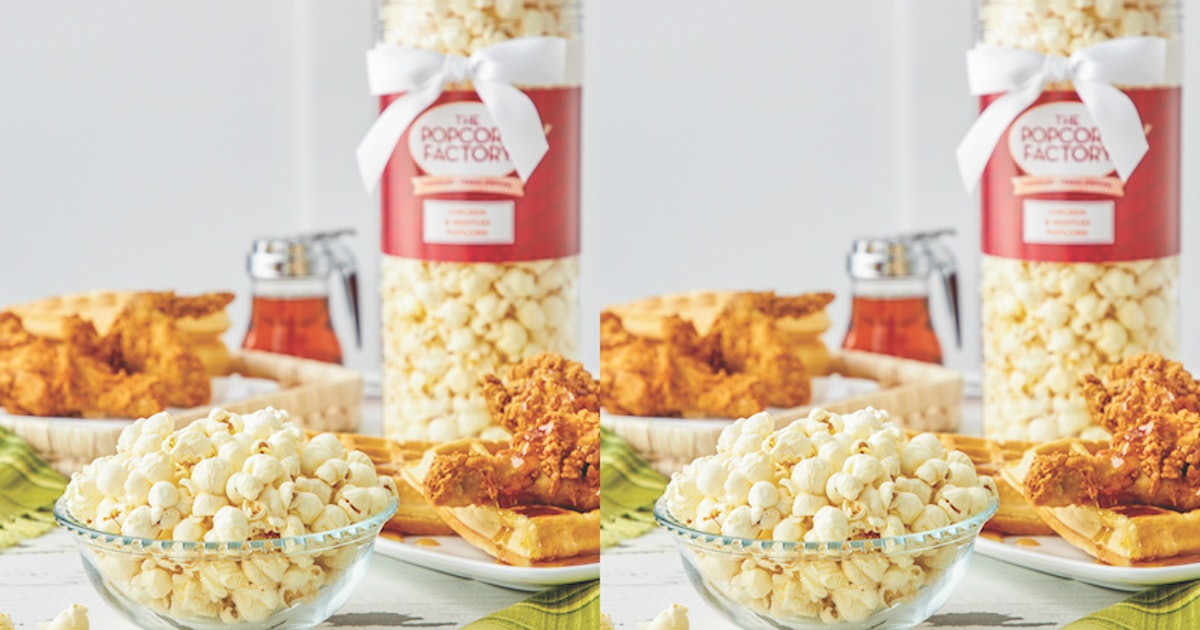 The Popcorn Factory's Chicken & Waffles Flavor Will Be Your New Favorite Movie Snack