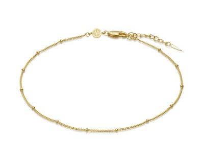 Gold Bobble Chain Anklet