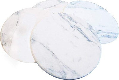 Ovation Home Absorbent Faux Marble Ceramic Coasters (4-Pack)