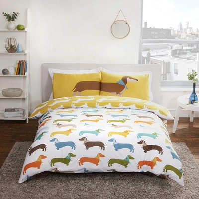Rapport Home Sausage Dog Duvet Cover And Pillowcase Set