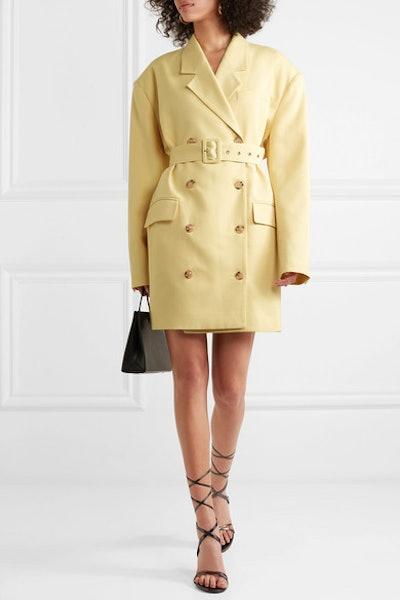 Linda Belted Cady Blazer Dress