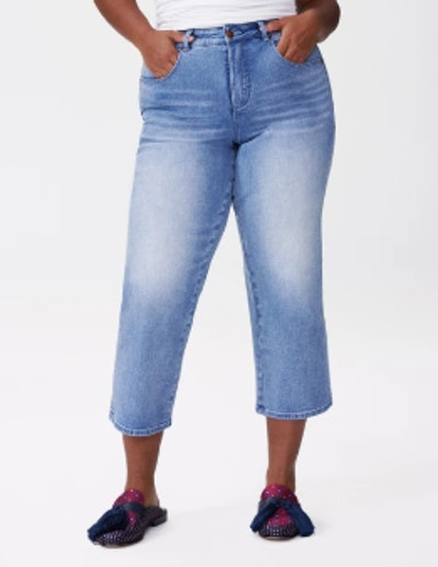 Bae Boyfriend Crop Jeans in Light Blue