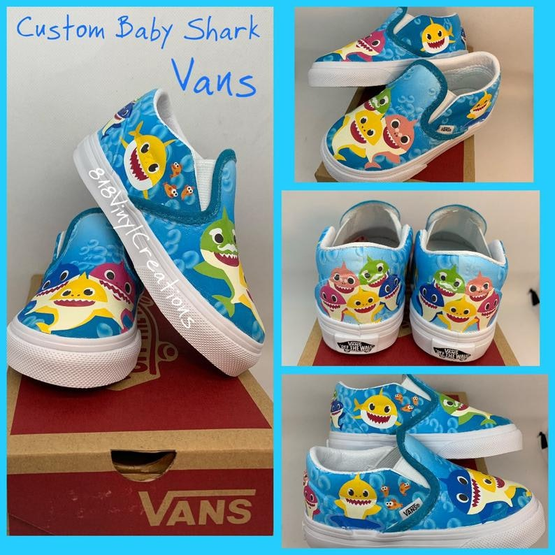 e52a2554eb47c These Custom Baby Shark Vans Will Make Your Kid The Coolest Fish In ...