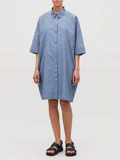 Boxy Denim Shirt Dress