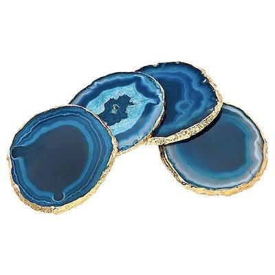 Madalynn Coasters, Blue/Gold