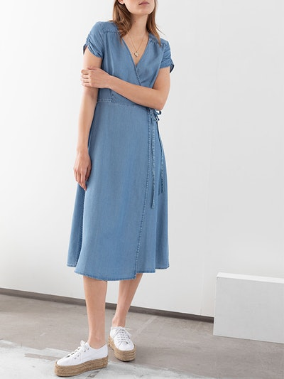 Lyocell Denim Wrap Dress