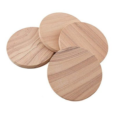 Thirstystone Cinnabar All-Natural Sandstone Coasters (4-Pack)
