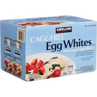 Kirkland Signature Liquid Egg Whites, Cage Free, 16 oz, 6 ct