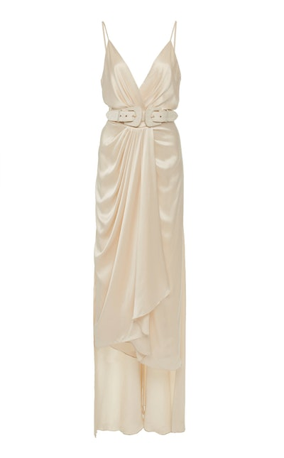Let's Meet At The Cabaret Belted Silk Gown