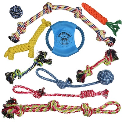 Dog Rope Toys for Aggressive Chewers - Set of 11