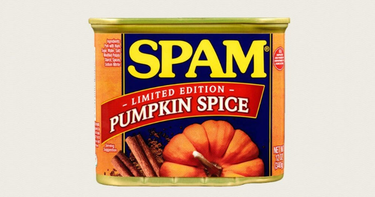 Pumpkin Spice Spam is a thing, and I am here for it