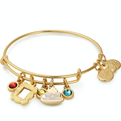Friends Frame and Coffee Mug Cluster Charm Bangle