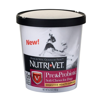 Nutri-Vet Pre And Probiotic Soft Chew, 2-Pack (120 Count Each)