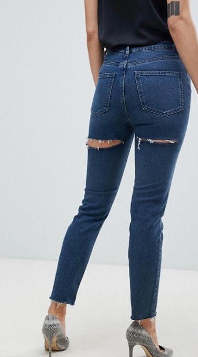ASOS DESIGN Recycled Farleigh High Waisted Slim Mom Jeans