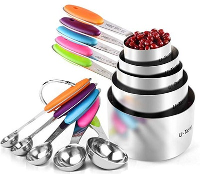 U-Taste 10-Piece Measuring Cups and Spoons Set in 18/8 Stainless Steel