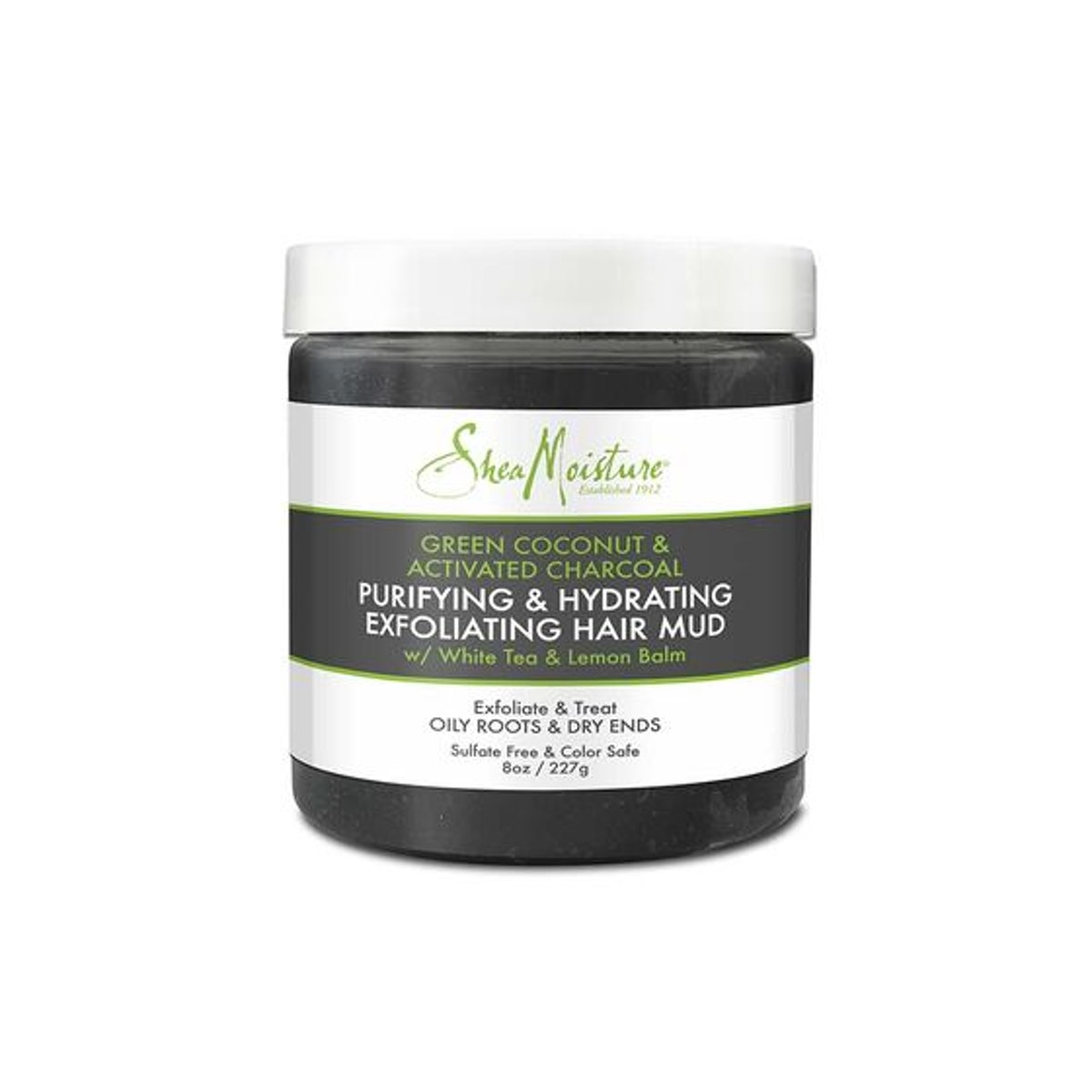 Green Coconut & Activated Charcoal Exfoliating Hair Mud