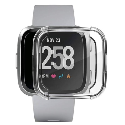 GHIJKL Fitbit Versa Screen Protector and Case (3 Pieces)