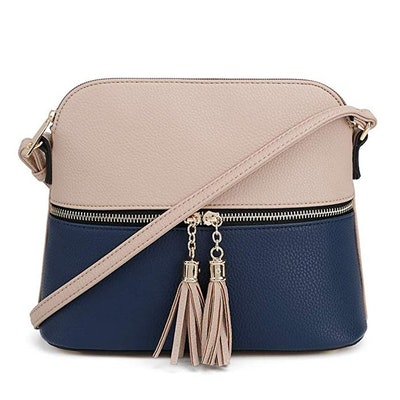 SG SUGU Lightweight Medium Dome Crossbody Bag with Tassel