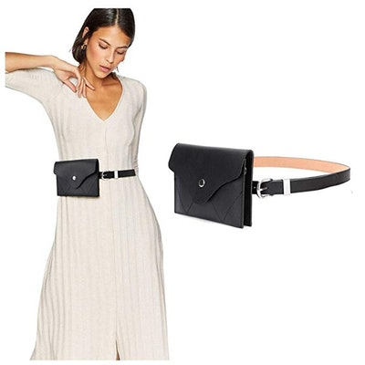 JASGOOD Womens Leather Belt Fanny Pack With Removable Belt Tassel