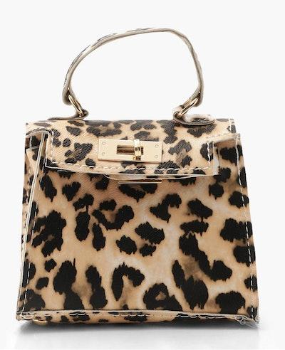 Leopard Micro Mini Grab Bag