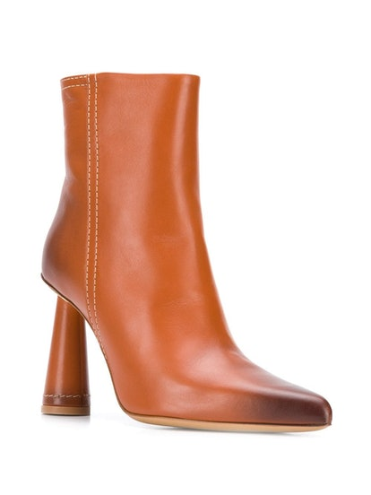 Structured Heel Ankle Boots